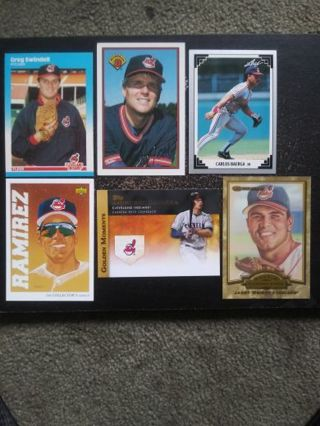 MLB Cleveland Indians Lot of 6