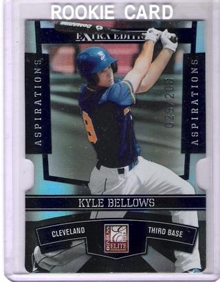 Kyle Bellows 2010 Elite Extra Edition Aspirations #84 /200