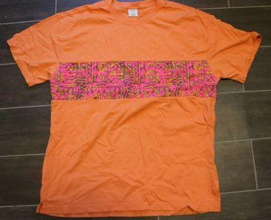 URBAN OUTFITTERS Men's Size Medium 100% Cotton Geometric Pattern & Orange.