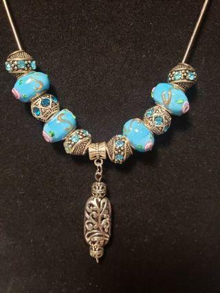 European Necklace ♡♡ Tibetan & Rose ♡♡
