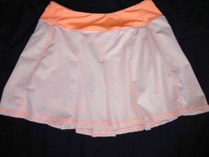 NWOT Women's KYODAN Neon Orange Activewear Tennis/Running Skort