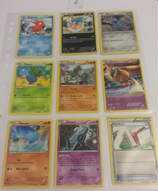 9 Pokemon collectable cards from ancient origins deck