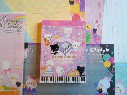 "Kawaii/Q-Lia *Rare* ""Honey Candy"" Mini-Memo Pad & 14 *Rare* LG. Memo Sheets!! ☆Last One!!☆"