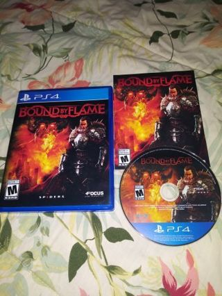 PS4 BOUND BY FLAME...FREE SHIPPING WITH TRACKING...NON SMOKING...VERY GOOD CONDITION...
