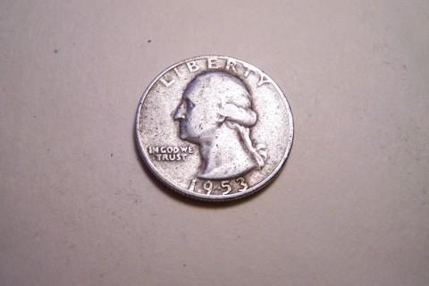 Silver 1953-S Washington Quarter