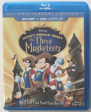Disney The Three Musketeers - Mickey Donald Goofy 10th Anniversary Edition Blu-ray / DVD Combo Movie