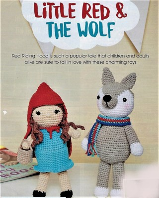 "NEW CROCHET PATTERN~""LITTLE RED & THE WOLF""~FREE SHIP"
