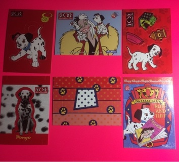 101 Dalmations 1996 Activity/collector cards