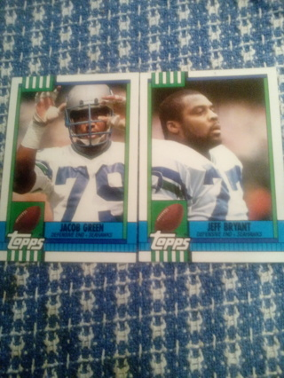 Topps # 344Jacob Green and #345 Jeff Bryant