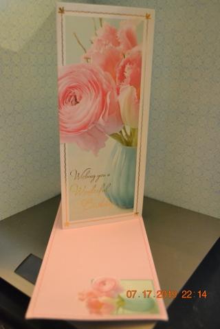 "****BEAUTIFUL FLOWER ""BIRTHDAY CARD"" W/MATCHING ENVELOPE***FREE SHIPPING"