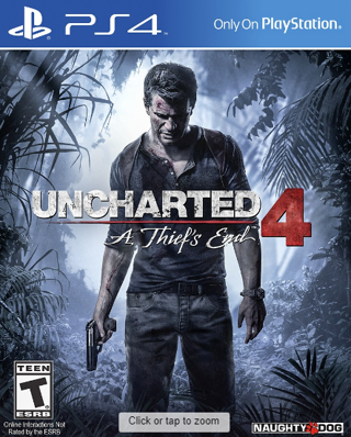 Uncharted 4: A Thief's End NEW! FACTORY SEALED! PlayStation 4 Game Disc, PS4