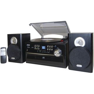 Jensen 3-Speed Turntable with CD AM/FM Stereo Radio Cassette and Remote