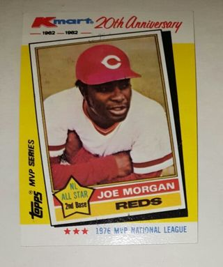 Free Rare Kmart 20th Anniversary 1962 1982 Joe Morgan Cincinnati