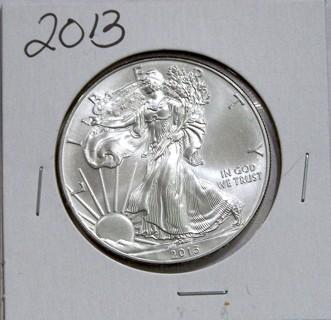 2013 Brilliant Uncirculated 1 Oz. Silver American Eagle!