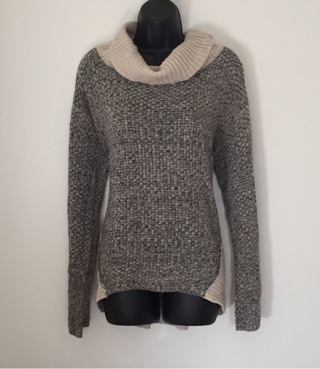 Cowl Neck Sweater, Size Large