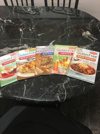 Set of Five Gluten Free Cookbooks