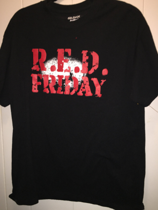 Vintage RED FRIDAY, Remember everyone deployed USA Troops large T shirt