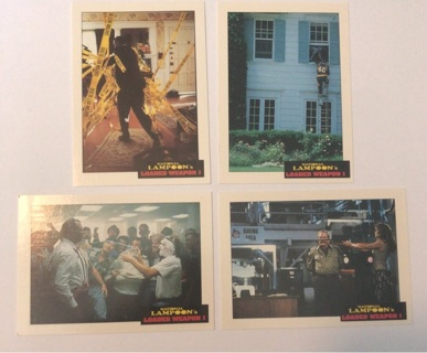 4x National Lampoon's Loaded Weapon I Trading Cards 1993