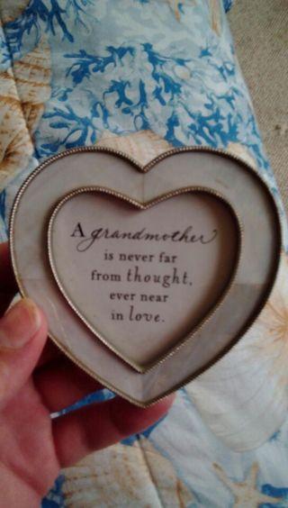 Grandma to grandchild photo frame