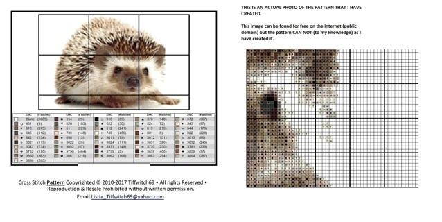 Hedgehog Cross Stitch Patterns ***WINNERS CHOICE***