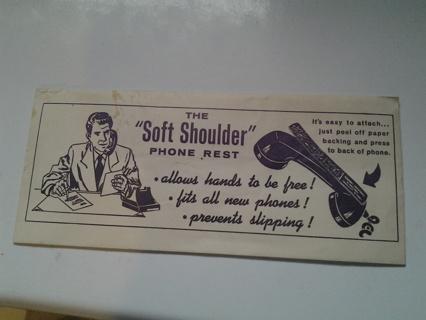 Soft Shoulder Phone Rest Advertising Piece Unused in Original Envelope
