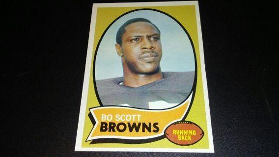 1970 TOPPS BO SCOTT CLEVELAND BROWNS FOOTBALL CARD