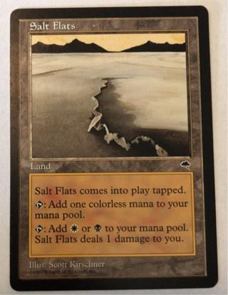 Salt Flats - Rare Land - Tempest MtG
