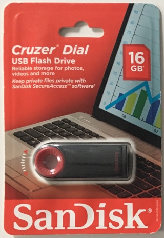 SanDisk Cruzer Dial 16GB USB 2.0 Retractable Flash Drive - Brand New Factory Sealed!