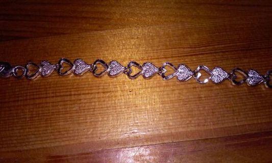.925 silver heart bracelet