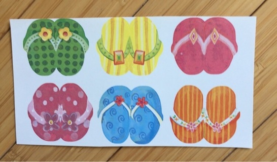Six Flip-Flop Stickers