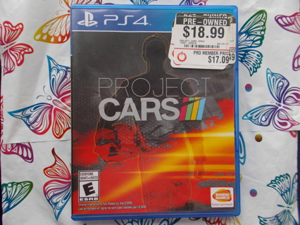PS4 Project Cars Video Game Case