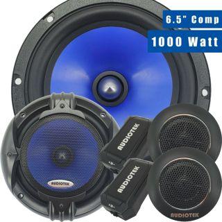Pair of Audiotek 1000W 6.5-Inch 2-Way Car Audio Component Speakers