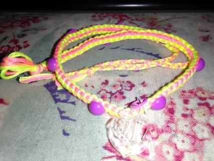 Friendship Wrap Bracelet with Purple Studs & Anchor Charm
