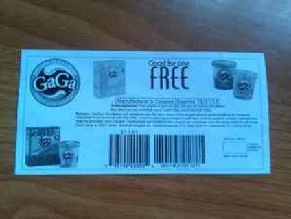 coupon for free GaGa ice cream