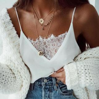 Women Summer Tank Tops Lace Sexy Vest Fashion Camisole Sleeveless Casual T-Shirt