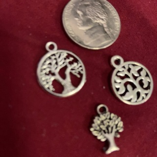 Three Zink Alloy Antique Silver Charms. #13