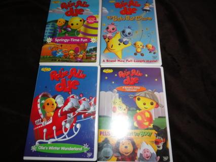 Lot of 4 Rolie Polie Olie DVDs Learning Early Education Childrens Kids Programs Disney