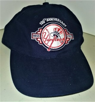 2003 MLB NY Yankees 100th Anniversary cap (adjustable) by HESS - Excellent condition