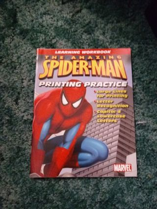 New Amazing Spiderman Preschool Writing Book