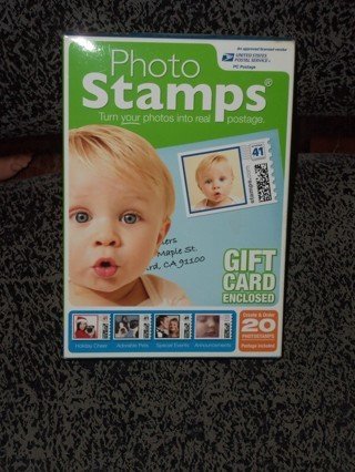 USPS Photo Stamps Create Your Own Stamps includes 20 .41 cent denomination