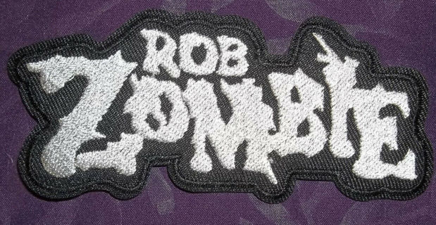 ROB ZOMBIE PATCH WHITE ZOMBIE HORROR METAL BIKER EMBROIDERED