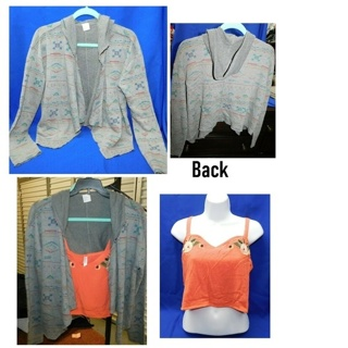 Kirra Open Hoody Top & Crop Blouse- Medium **Gorgeous Set**