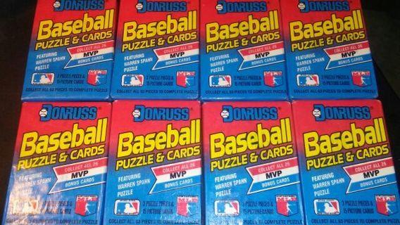 8 1989 DONRUSS SEALED BASEBALL PACKS