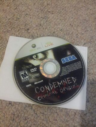Xbox 360 games. Condemned: Criminal Origins and Condemned 2: Bloodshot