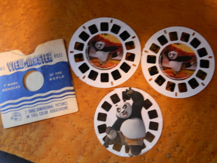 c2008 Dreamworks Kung Fu Panda 3D Viewmaster Childrens Set (w/Vintage Sleeve) - FREE Shipping!