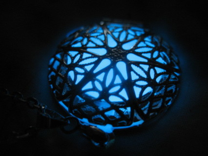 Blue Glow In The Dark Necklace! * Must See!*