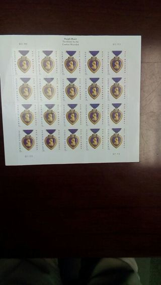 Purple Heart Forever Stamps
