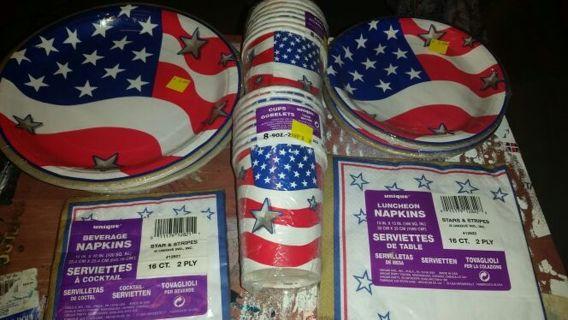 Stars & Stripes Party Set