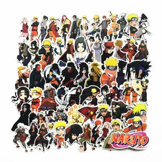 63Pcs/lot japan anime Naruto sasuke Cartoon For Snowboard Laptop Luggage Fridge Car- Styling Vinyl