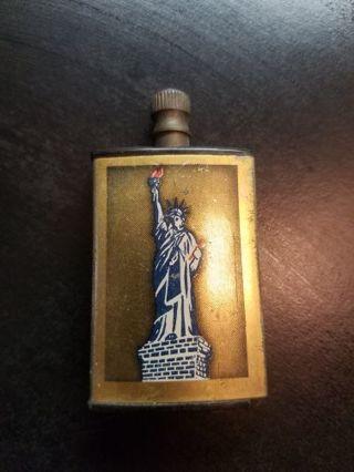 Match-King Vintage Striker Cigarette Lighter - Statue of Liberty & Shield